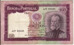 Billet De 100 Escudos Cem (Portugal) 1961 - Portugal