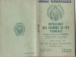 Calendrier -Agenda / Orphelinat Des Chemins De Fer Français/ Paris/ Flamand/ 1952  CAL121 - Calendriers