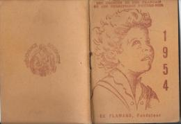 Calendrier -Agenda / Orphelinat Des Chemins De Fer Français/ Paris/ Flamand/ 1954     CAL123 - Calendarios