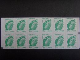 15002- Carnet Beaujard Lettre Verte Avec Double Carré Gris En Bas Sur N° 100 + RE En Bas à G = SUPER ARISTO, RARE - Carnets