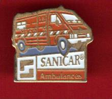 23394-pin´s Medical.ambulance.Pompiers. - Firemen