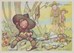 SCOUTISME BOY SCOUTS HUMOUR CARTE HUMOURISTIQUE ILLUSTRATION  TRES BON ETAT  ! ! ! - Scoutisme