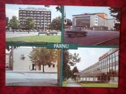 Pärnu - Multiview-card - Pärnu Hotel - Theatre - Museum - Sanatorium Tervis - Estonia - USSR - 1985 - Unused - Estonie