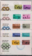 O) 1968 MEXICO, QUARTER   POSTAL SERIES.   PRELIMINAR ROUND, VARIOUS SKILLS-SPORTS, FDC F.- - Mexico