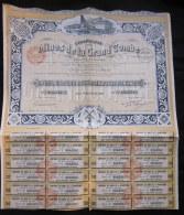 1925 Ancienne ACTION Titre Compagnie Des MINES De La GRAND´COMBE 250 Francs COLLECTION Scripophilie - Mineral