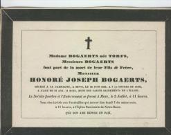 Bogaerts, Honoré, époux De Mme Torfs, Hove, 29 Juin 1845 - Obituary Notices