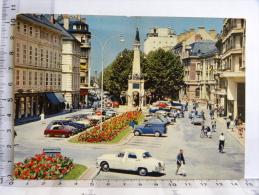 CPM (73) Savoie  CHAMBERY LeBoulevard De La Colonne Et Fontaine Des Eléphants (Juva4 Vespa400 Rovin Renault Frégate) - Chambery