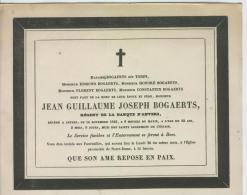 Bogaerts, Jean, époux De Mme Torfs, Anvers, 14 Novembre 1843 - Obituary Notices