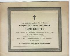 Emmerechts Jacques, Anvers 5 Mars 1845 - Obituary Notices