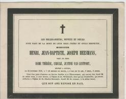 Heesmans, Henri, Veuf De Thérèse Van Cantfort - Obituary Notices