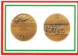 [DC1646]  CARTOLINEA - DI MEDAGLIA IN MEDAGLIA - 150° ANN. DEI BERSAGLIERI - LA BATTAGLIA DI GOITO - Monete (rappresentazioni)