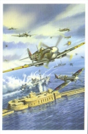 Spitfire Mk IX  -  Jacques & Pierre Clostermann   -  Art Carte Par Benjamin Freudenthal - Aviadores