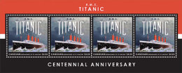Canouan Grenadines Of St. Vincent-2013-TITANIC 100TH ANNIVERSARY SHEETLET OF 4 - Cinema