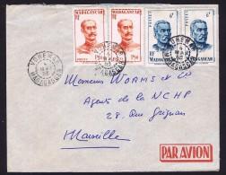 1953  Lettre Avion De Vohemar Pour La France Yv  308 X2, 314 X 2 - Madagascar (1889-1960)