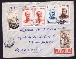 1953  Lettre Avion De Vohemar Pour La France Yv  303, 306, 308, 314, 316 - Madagascar (1889-1960)