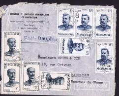 1954  Lettre Avion De  Fort-Dauphin   Pour La France Yv  309 X4, 317 X5 - Madagascar (1889-1960)
