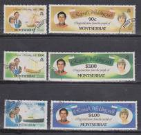 Montserrat 1981 Prince Charles & Diana  Royal Wedding Set 6 VFU - Montserrat