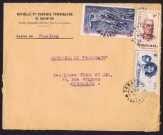 1952  Lettre De Tamatave Pour La France Yv 312, 315, PA 63 - Lettres & Documents