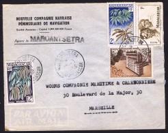 1958  Lettre Avion  De  Maroantsetra    Pour La France Yv  306, 328, 332, 334 - Madagascar (1889-1960)