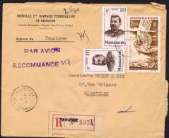 1952  Lettre Avion Recommandée  De Tamatave    Pour La France Yv   316 X2, PA64 - Madagaskar (1889-1960)