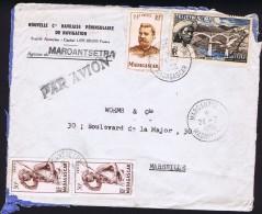 1956  Lettre Avion   De  Maroantsetra    Pour La France Yv  303 X2, 318, PA 76 - Madagascar (1889-1960)