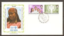 Brunei FDC Année Internationale De L´Enfant 1979 Brunei FDC Int. Year Of The Child IYC - Brunei (1984-...)