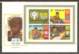 Bhoutan FDC Année Internationale De L´Enfant 1979 Bhutan FDC Int. Year Of The Child IYC - Bhutan