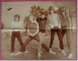 Musik Poster :  Gruppe Teens  -  Rückseite : Grace Jones  -  Ca. 1982 Aus Der Popcorn - Plakate & Poster
