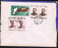 1954  Lettre Avion De Nossi-Bé   Pour La France   PA 64A, 310 X2, 316 X2 - Madagascar (1889-1960)