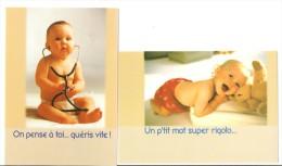 CP CPM CARTE POSTALE NEUVE Bébé-2 Cartes - Humorkaarten