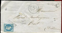 63528 - 29A GC 3898 Cad Type 17 TAIN (25) Oct 1869, Boite Rurale C De LARNAYE TB - Storia Postale