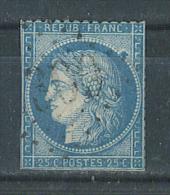 VEND TIMBRE DE FRANCE N° 60A + VARIETE : GROS POINT DE COULEUR DERRIERE LA TETE !!!! - 1871-1875 Cérès