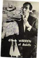 Autographe Claude WARREN  Et Achille Ventriloque    Recto Verso - Autres