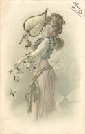 FANTAISIE 320 - CPA  -   Femme Style Vienne  Paillettes    Belle Carte - Women