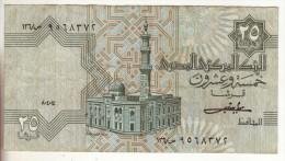 Billet De 25 Piastres Egypte 1978 - Egipto