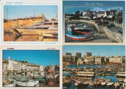 11 POSTCARDS: BATEAUX & PORT - FRANCE - Boten/Schepen/Haven / Boats & Ships / Harbour / Boten/Schiffe/Hafen - (4 Scans) - Postkaarten