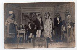 CAMP D'OHRDRUF 14/18 - GROUPE THEATRAL - COLLECTION THEATRALE - LES SUITES D'UN PREMIER LIT - CARTE PHOTO. - Guerre 1914-18
