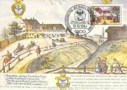 ALLEMAGNE BUND CARTE MAXIMUM NUM.YVERT 1057 HISTOIRE DES POSTES - [7] Federal Republic