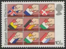 Great Britain 1979 Mi 791 YT 890 ** National Flags Into Ballot Boxes-1st Direct Elections Eur. Assembly / Direktwahlen - Postzegels