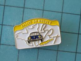 (pin513d) Pin´s Pins / Thème : AUTOMOBILES / RALLYE DU MUGUET PORSCHE NOIRE BRT BRETAGNE PAYS DE LOIRE   /  Marquage Au - Rallye