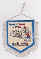 Fanion Plastifié, écusson 85x100 Mm, Verso Idem - Internationaux France, Lyon - Tennis De Table, 5,6,7, Déc 1986 - Tennis De Table