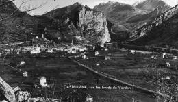 CASTELLANE - ALPES DE HAUTE PROVENCE  (04) - PEU COURANTE CPA DE 1938. - Castellane