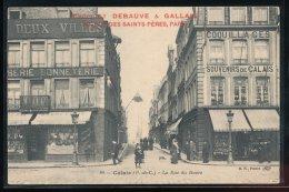 62 --- Calais --- La Rue Du Havre --- Reclame -- Chocolat Debauve & Gallais - Calais
