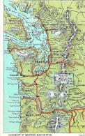 Autres.  Highways Of Western Washington Card . - Etats-Unis