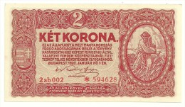 Hungary 2 Korona 1920 UNC/AUNC - Hongrie