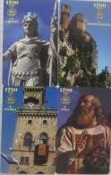 NUOVE-(Mint)-47/50  -SAN MARINO-SERIE 1700° REPUBBLICA - 4 SCHEDE - San Marino