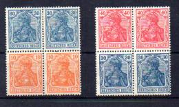 1920 Germania + 120-122-123* Extrait De Composition De Carnet - Unused Stamps