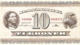 BILLETE DE DINAMARCA DE 10 KRONER DEL AÑO 1936 (BANK NOTE) - Dinamarca