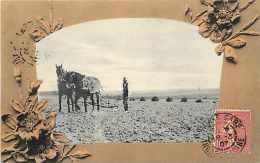 Themes Div-ref F742- Agriculture -attelage De Chevaux -travaux Des Champs  -carte Bon Etat  - - Cultures