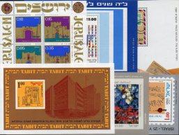 6 Topics Blocs History Israel Motiv-Blocks ** 111€ Kunst Kultur Bf M/s Various Thema Art Bloc Philatelic Sheet Of Asia - Israel